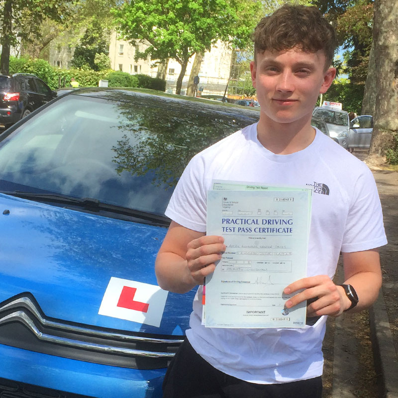 Enjoyed my driving lessons with Mat, and grateful for his help on getting me through my test on my first try. Would recommend. Archie Sanger-Davies.
