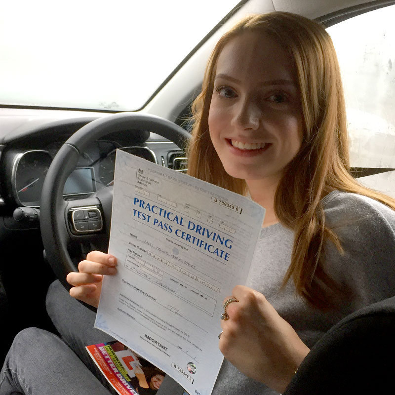 Mat is a patient and kind driving instructor who managed to get me to pass first time. Abbie James.