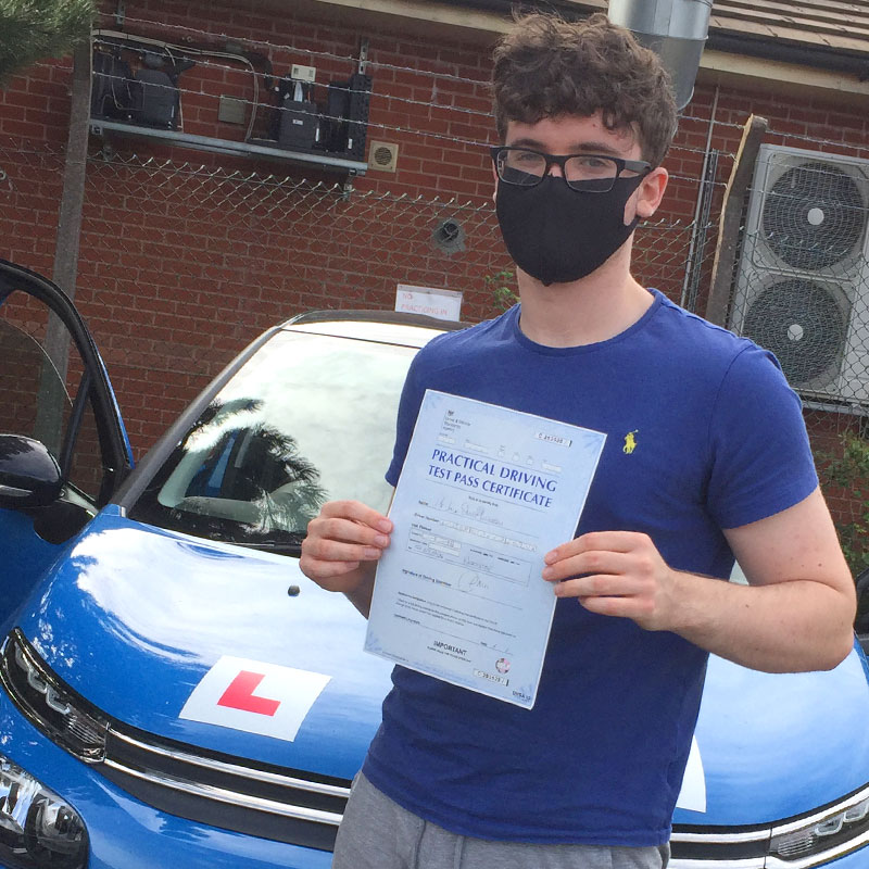 Congratulations to Jack Lowerson on passing his driving test with Mat Clark in Evesham!