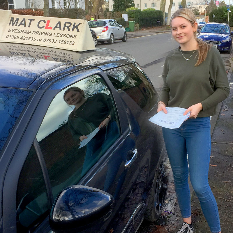 Mat explains instructions well and makes you feel comfortable. I would recommend Mat to anyone who would like to learn to drive. Ellie Moulton.
