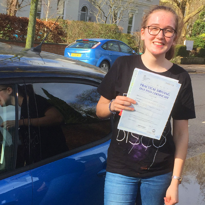 Mat is a brilliant driving instructor, I passed my driving test first time. Imogen Looker.