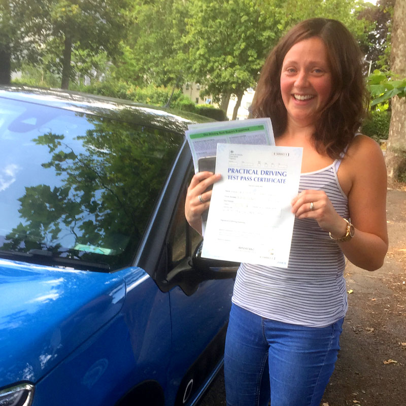 As a very nervous driver who has had lots of lessons. Thank you Mat for all your support and getting me through my driving test. Kate Edgeworth.