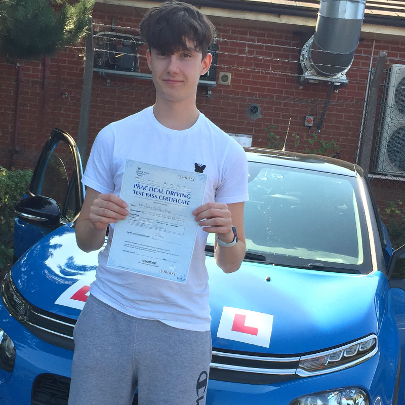 Nathan Ellis passed with Best Driving Lessons in Evesham!