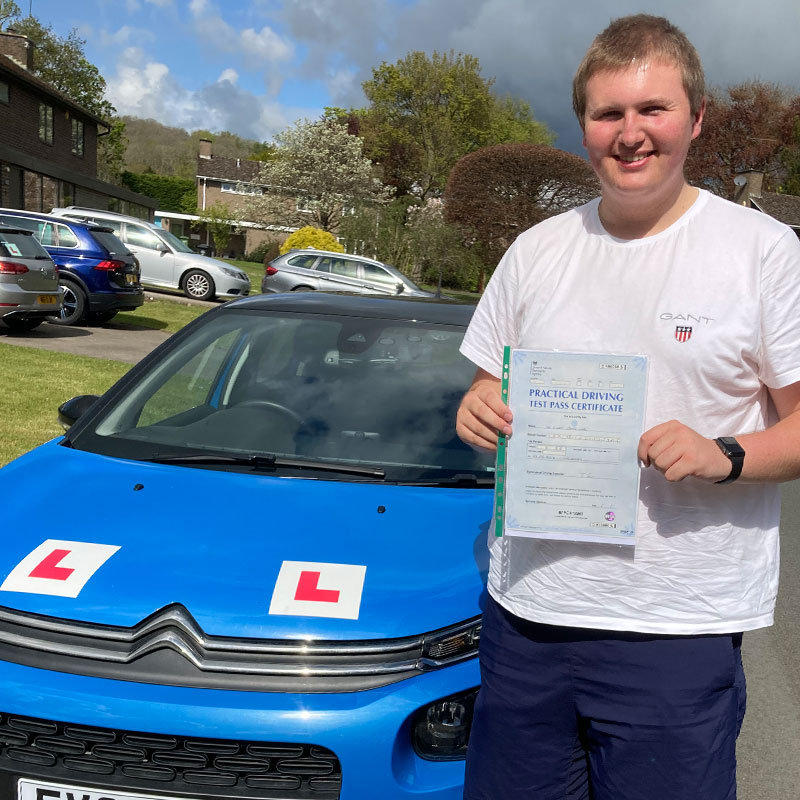 Mat is a brilliant driving instructor. He's calm, knowledgeable and increased my confidence. Ollie Neal.