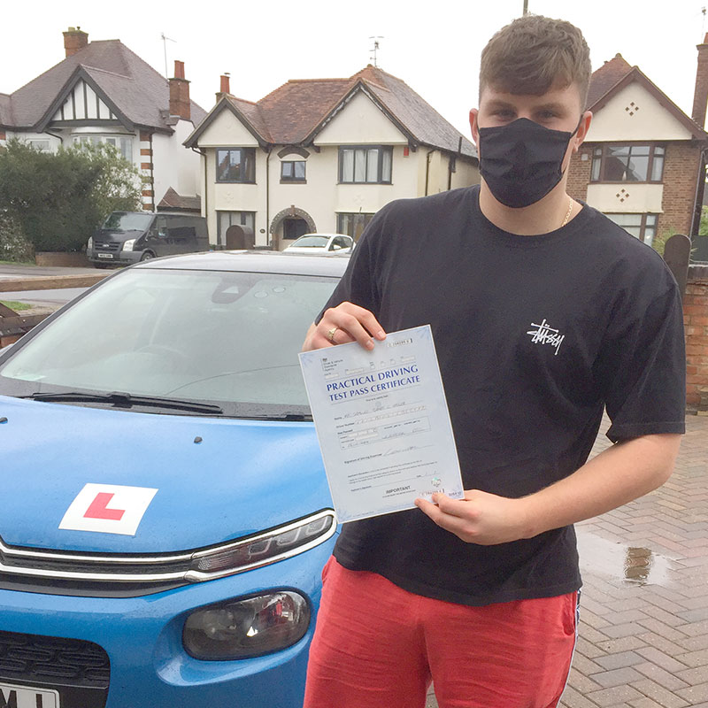 I really enjoyed learning to drive with Mat and felt ready and equipped to take my test which I passed first time. Samuel Hayler