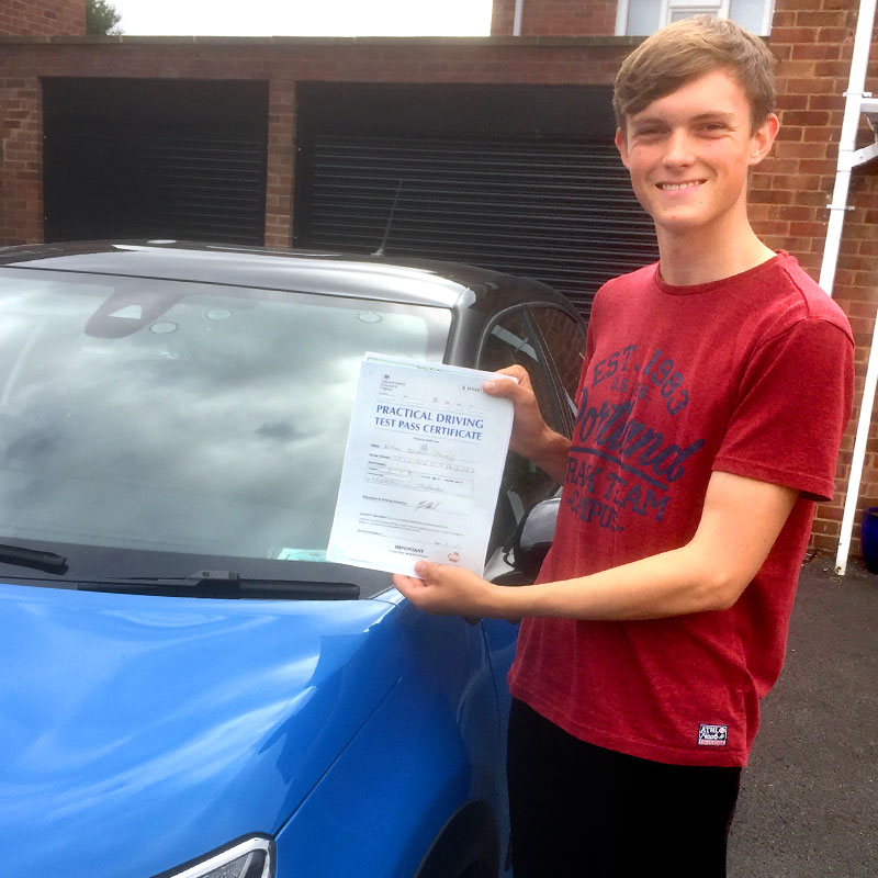 Mat was a brilliant driving instructor, he made me feel very safe and his patience helped me to pass first time. William Davey.